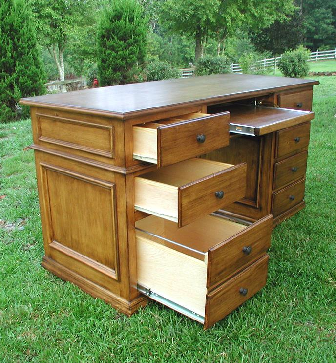 Back To White Pine Computer Desk