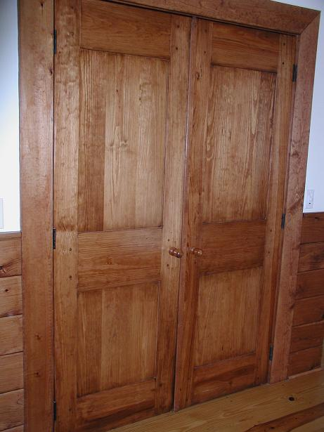 Yellow Pine Double Pantry Doors
